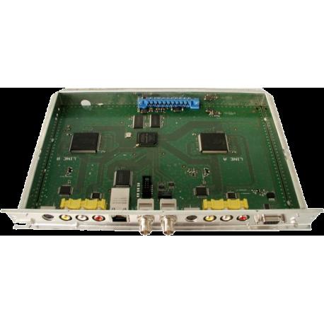 HDE 210 dvojitá kazeta pre prevod 2 AV signálov