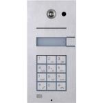 Helios VARIO, 1 tlačítko+klávesnica analógový dverný vrátnik