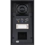 Helios IP FORCE 1 tlačítko, piktogramy a príprava pre čítačku IP dverný vrátnik
