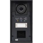 Helios IP FORCE 1 tlačítko, kamera, piktogramy a príprava pre čítačku IP dverný vrátnik