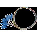 Pigtail 9/125 SCpc SM OS1 1,5m, balenie 12ks - farby SXPI-SC-PC-OS1-1,5M-12PCK