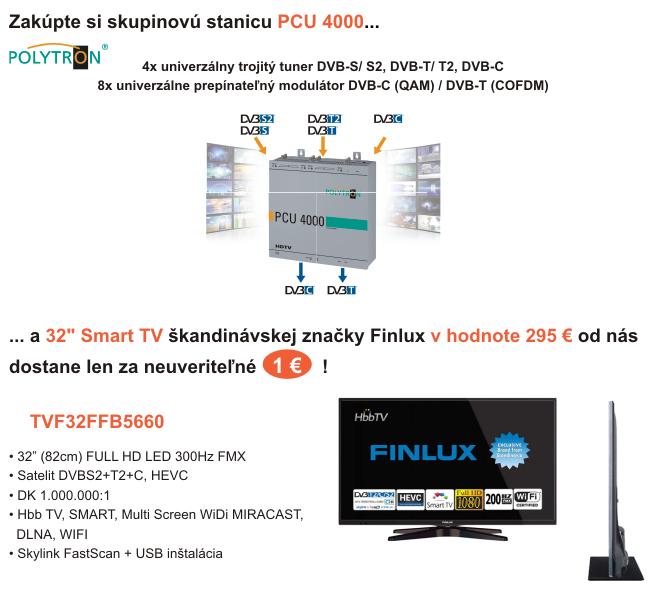 """Skupinová stanica Polytron a 32"""" Smart TV Finlux"""