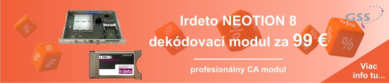 Irdeto NEOTION 8 za 99 €