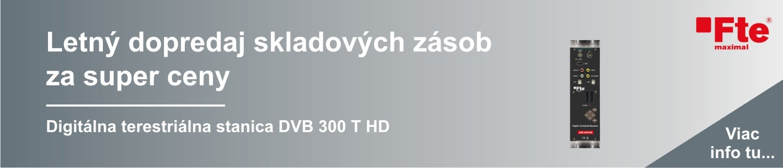 Letný dopredaj digitálna terestriálna stanica DVB 300 T HD