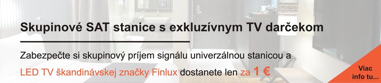 Skupinové SAT stanice Polytron a GSS a TV Finlux za 1 €