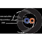 DROP1000 univerzální kabel Solarix 2vl 9/125, 3,5mm LSOH, černý, G.657A2 500m