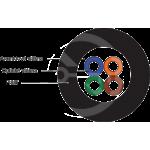 DROP1000 univerzálny kábel Solarix 4vl 9/125, 3,6mm LSOH, čierny, G.657A2, 500m
