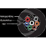 DROP1000 univerzální kabel Solarix 8vl 9/125, 3,7mm LSOH, černý, G.657A2, 500m